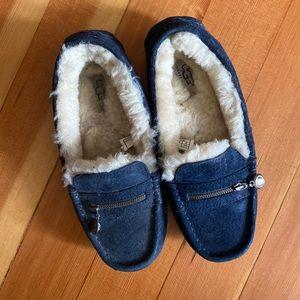 Navy Ugg Loafer Slippers